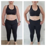 …. I know we can visibly see a major physical difference here  ( 21.5 inches / 14lbs diwn )  but what I love about this is the mental difference she has , her relationship with food , her mindset has all shifted . Absolutely amazing Sarah well done